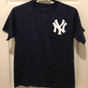 Majestic Blue New York Yankees Derek Jeter TShirt